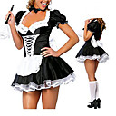 cheap Sexy Uniforms-Maid Costume Career Costumes Cosplay Costume Party Costume Women's Halloween Carnival Festival / Holiday Halloween Costumes Black/White