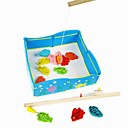billige Building Blocks-Børns intelligens Magnetic Wooden Fishing Pond Model Legetøj