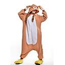 preiswerte Wand-Sticker-Erwachsene Kigurumi-Pyjamas Bär Pyjamas-Einteiler Polar-Fleece Orange Cosplay Für Herren und Damen Tiernachtwäsche Karikatur Halloween Fest / Feiertage