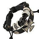 cheap Men's Bracelets-Men's Leather Bracelet - Leather Cross Unique Design, Fashion Bracelet For Christmas Gifts / Daily