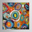 abordables Óleos-Pintura al óleo pintada a colgar Pintada a mano - Abstracto Contemporáneo Incluir marco interior / Lona ajustada