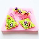 preiswerte Kuchenbackformen-Blume Back Fondantkuchen Schokolade Süßigkeiten Schimmel, l8.7cm * w5.2cm * h1.1cm