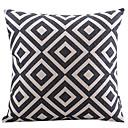cheap Pillow Covers-1 pcs Cotton/Linen Pillow Cover, Plaid Modern/Contemporary