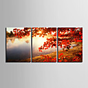 cheap Stretched Canvas Prints-Classic Realism, Three Panels Horizontal Print Wall Decor Home Decoration