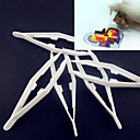 abordables Decoraciones de Fiesta-1pcs blanco herramienta pinzas plásticas para perlas de fusibles hama bricolaje safty rompecabezas para los niños de artesanía
