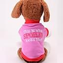 abordables Ropa para Perro-Perro Camiseta Ropa para Perro Algodón Disfraz Para Verano Cosplay