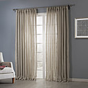 cheap Ashtrays-Sheer Curtains Shades Bedroom Solid Colored Polyester Jacquard
