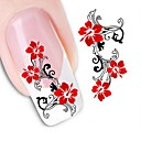 cheap Full Nail Stickers-1 pcs Flower / Wedding / Fashion Water Transfer Sticker / 3D Nail Stickers Daily