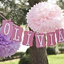 baratos Decorações de Festas-4pçs 4pcs / pack Papel Redonda Lenços Flor & Fruta Decorativa Decorações do partido Decoração para casa