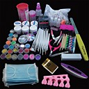 cheap Manicure & Pedicure Tools-167PCS Pro Nail Art Acrylic Powder UV Gel Tip Brush Clipper Tool Set
