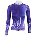 cheap Cycling Jerseys-ILPALADINO Women's Long Sleeve Cycling Jersey - Purple Floral / Botanical Bike Jersey Top, Breathable Quick Dry 100% Polyester / High Elasticity