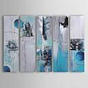 tanie Obrazy olejne-Ręcznie malowany abstrakcyjny obraz olejny naciągnięty na ramę - zestaw 5-częściowy