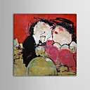 baratos Pinturas Pessoas-Pintura a Óleo Pintados à mão - Pessoas Contemprâneo Tela de pintura
