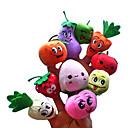 baratos Marionetes-Rosto sorridente Fruta Fantoches de dedo Fantoches Fofinho Talk Prop Adorável Novidades Desenho Têxtil Felpudo Para Meninas Dom 10pcs