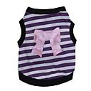 preiswerte Hundekleidung-Katze Hund T-shirt Hundekleidung Streifen Herz Purpur Rosa Baumwolle Kostüm Für Haustiere