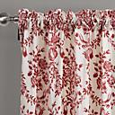 baratos Ralos-Cortinas cortinas Quarto Poliéster Estampado