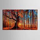 preiswerte Kunstdrucke-Keilrahmen Kunst rotem Holz dekorative Malerei Set von 5