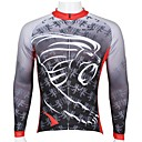 cheap Cycling Jerseys-ILPALADINO Men's Long Sleeve Cycling Jersey - Gray Cartoon Bike Quick Dry, Ultraviolet Resistant, Breathable