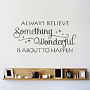 halpa Seinätarrat-Abstrakti Kukkakuviot Vintage Words & Quotes Fantasy Wall Tarrat Words & Quotes Wall Stickers Koriste-seinätarrat, Vinyyli Kodinsisustus