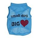 hesapli Köpek Giyimi-Kedi Köpek Tişört Köpek Giyimi Kalp Harf & Sayı Mavi Pembe Terylene Kostüm Evcil hayvanlar için