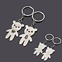 זול מזכרות מחזיקי מפתחות-במחזיק מפתחות זוג דוב מתכת חריטה אישית