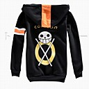 abordables Disfraces de Anime-Inspirado por One Piece Trafalgar Law Animé Disfraces de cosplay Tops Bottoms Cosplay Manga Larga Chaqueta Para Hombre