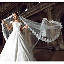 preiswerte Anime Cosplay Zubehör-Einschichtig Spitzen-Saum Hochzeitsschleier Kathedralen Schleier mit 118,11 in (300cm) Spitze / Organza