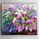 povoljno Moderni broševi-Hang oslikana uljanim bojama Ručno oslikana - Cvjetni / Botanički Comtemporary Uključi Unutarnji okvir / Prošireni platno