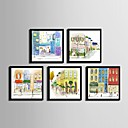 cheap Wall Art-Framed Canvas / Framed Set - Architecture PVC Illustration
