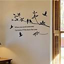 preiswerte Wand-Sticker-Tiere Formen Botanisch Worte & Zitate Retro Wand-Sticker Flugzeug-Wand Sticker Dekorative Wand Sticker, PVC Haus Dekoration Wandtattoo