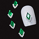 cheap Rhinestone & Decorations-10pcs green marquise 3d rhinestone diy alloy accessories nail art decoration