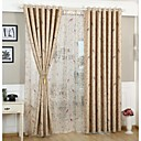 cheap Curtains Drapes-Blackout Curtains Drapes Living Room Polyester Print & Jacquard