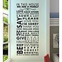 billige Trykk-Abstrakt Mennesker Still Life Mote Former Ord & Citater fantasi Veggklistremerker Ord og sitater Wall Stickers Dekorative Mur