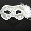 billige Masker-Karneval Maske Herre Dame Halloween Festival / høytid Drakter Hvit Ensfarget