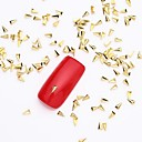 abordables Pendientes-500pcs 3d uñas de oro de la joyería del arte rebanada aleación botón dorado brillante plano remache para el diseño de uñas y uñas postizas