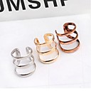cheap Earrings-Women's Hollow Out Ear Cuff - Vintage, Simple Style Silver / Bronze / Golden For Wedding Party Daily