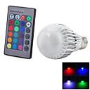 preiswerte LED Glühbirnen-1pc 3 W 300-500 lm E26 / E27 Smart LED Glühlampen 1 LED-Perlen Integriertes LED Ferngesteuert / Dekorativ / Farbverläufe RGB 85-265 V / RoHs