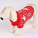 cheap Dog Clothes-Cat Dog Sweater Dog Clothes Christmas Snowflake Red Costume For Pets