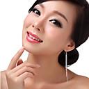 cheap Earrings-Women's Tassel Drop Earrings - Sterling Silver Statement, Tassel Screen Color For