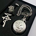 cheap Anime Cosplay Accessories-Men's Women's Quartz Pocket Watch Gift Classic Alloy Metal Band Traditional / Vintage Silver