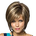 cheap Synthetic Capless Wigs-Synthetic Wig Blonde Bob Haircut / Pixie Cut / With Bangs Synthetic Hair Blonde Wig Short