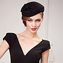 cheap Party Headpieces-Wool Crystal Fabric Tiaras Hats 1 Wedding Party / Evening Headpiece