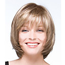 cheap Christmas Party Supplies-european and american new light golden color short wig and white mix