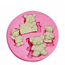 preiswerte Backformen-Karikaturform Teddybär Silikonform Kuchen dekorieren Silikonform für Fondant Süßigkeiten Handwerk Schmuck pmc Harz Ton