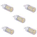 hesapli Güvenlik Aksesuarları-YWXLIGHT® 5pcs 1500 lm G9 LED Mısır Işıklar T 60 led SMD 5730 Sıcak Beyaz Serin Beyaz AC 110V AC 220V
