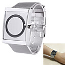 cheap Bakeware-Men's Quartz Wrist Watch Casual Watch Stainless Steel Band Unique Creative Watch Elegant Silver