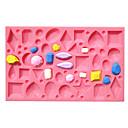 baratos Artigos de Forno-Ferramentas bakeware Silicone Bolo Moldes de bolos / Molde 1pç