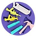 billige Bakeformer-hammer så pistol bullet formet fondant kake sjokolade silikon mold, cupcake dekorasjon verktøy, l10.4cm * w10.4cm * h1.6cm