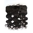 "cheap Motorcycle Lighting-1Pcs/lot 16inch 13""x4"" Brazilian Virgin Hair Closure body wave Human Hair Lace frontal Closure"