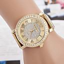 זול שעונים אופנתיים-yoonheel בגדי ריקוד נשים שעון יד חיקוי יהלום מתכת להקה יום יומי / אופנתי / אלגנטית זהב / שנה אחת / SODA AG4
